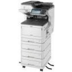 OKI MC853dnv 4 in 1 Farblaser Multifunktionsdrucker grau