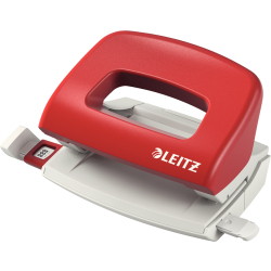 LEITZ Locher 0 8mm Privat m.Schiene rot