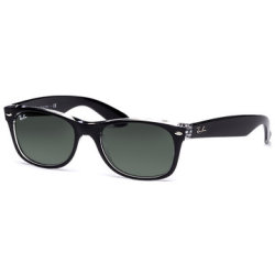 Ray Ban New Wayfarer 2132 6052 5218 Top Black on Transparent Green