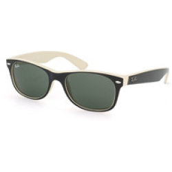 Ray Ban New Wayfarer RB2132 875 52 top black on beige crystal green