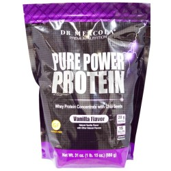 Dr. Mercola Pure Power Protein Vanille Aroma 880 g