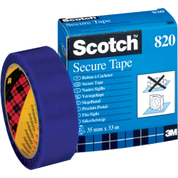 (0 63 EUR 1 m) Scotch Klebeband 820 35mm x 33m transparent blau