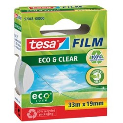 (0 05 EUR 1 m) Tesa Klebeband Eco Clear 19mm x 33m klar transparent