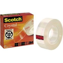 (0 05 EUR 1 m) Scotch Klebeband Crystal Clear 600 19mm x 33m transparent